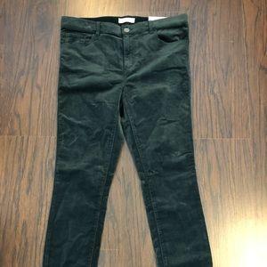 Ann Taylor Loft Pants Green Cords Size 8/29